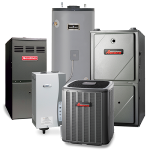 a collection of hvac units and furnaces
